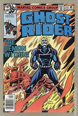 Ghost Rider (1st Series) Mark Jewelers #34MJ 1979 GD 2.0 Low Grade