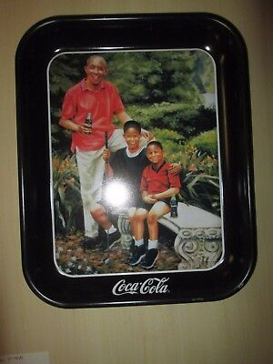 Vintage COKE COCA-COLA TIN LITHO ADVERTISING SERVING TRAY Tee Off Golf