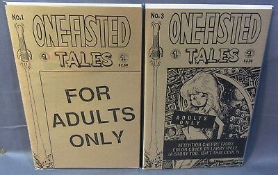 ONE-FISTED TALES #1 & 3 (Cherry Poptart Cover) NM- Slave Labor Comics 1990 Welz