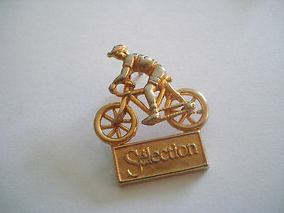 PINS RARE VINTAGE SELECTION SPORT CYCLISME VELO COULEUR DORE CYCLING wxc 19