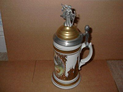 1990 Lindner Stein With Pewter Lid Witch Limited Edition 28 Of 5000 Gossel Gallo