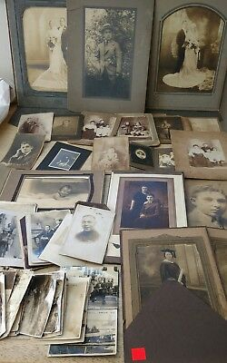 estate lot of Antique/Vintage Photos 1800's - 1920's Jewish Family South Philly