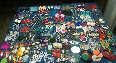 Vintage to Now Estate Lot of 150 pairs of pierced earrings Jewelry Junk drawer