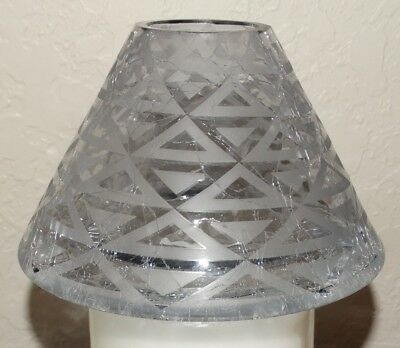 Yankee Candle Grey Triangle Candle Shade Fits Large Medium Jars NEW