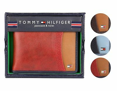 Tommy Hilfiger Men's Premium Leather Credit Card ID Wallet Passcase 31TL220014