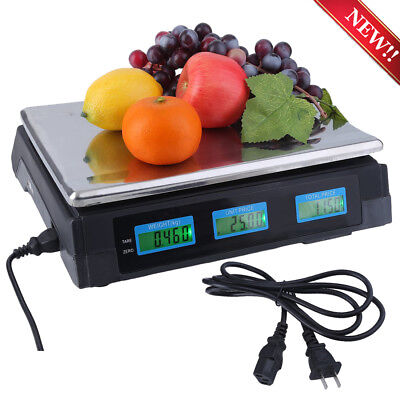 Digital Deli Meat Food Computing Retail Price Scale 88LB Fruit Produce Counting!