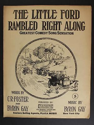 1914 Little Ford Rambled Right Along Sheet Music~