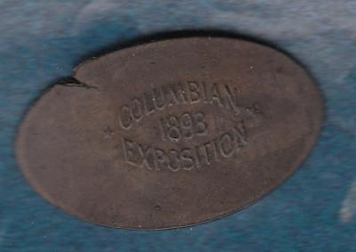 1893 Columbian Exposition Large Elongated Coin ( on a British One Penny ??)