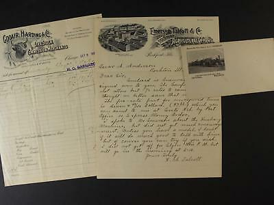 LOT of THREE 1890s-1900s FARMING RELATED LETTERHEADS and ENVELOPES