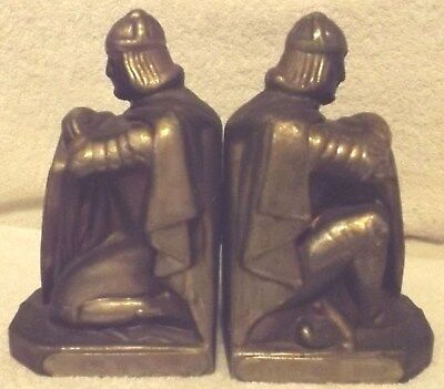 VINTAGE BOOKENDS--PAIR of BRASS BOOKENDS--ROMAN SOLDIERS--GENEVA,IN--VERY NICE