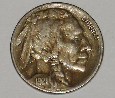 Rare 1921-S Buffalo Nickel Grading XF Nice Example of This Key Date