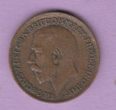 1913 Great Britain One Farthing, Key date for this type, inv#8705