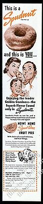 1950 Spudnut donut doughnut photo happy family art vintage print ad