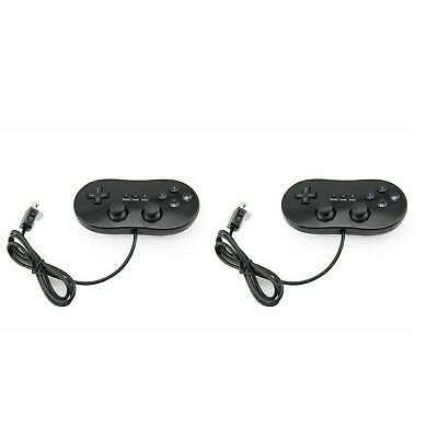 Classic Game Controller for Wii (black) (two Pack) for Nintendo Wii Joypad