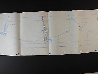 1992 TOM and JERRY THE MOVIE PRODUCTION DRAWING~STORYBOARD~ROPE SWING TOM