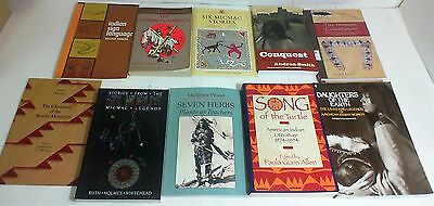LOT of 10 BOOKS about NORTH AMERICAN NATIVE INDIANS