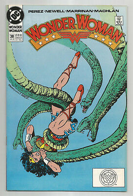 Wonder Woman # 38 * 1990 * George Perez * Mindy Newell Chis Marrinan * Nice Copy