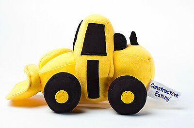NEW Constructive Eating Digger Front Loader Construction Machine Soft Plush Toy