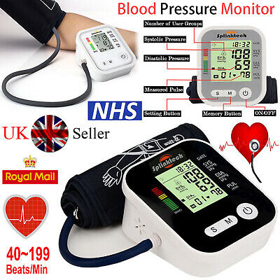 Automatic Digital Blood Pressure Monitor Meter BP Arm Machine LCD Large Display