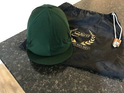 Christy Beaufort Derby Child's Riding Hat Black With Green Skull Cap And Bag