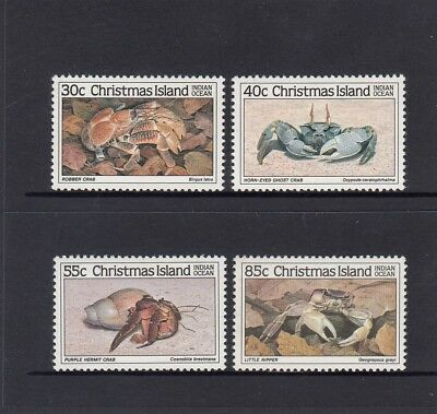 CHRISTMAS Island 1985 CRAB Marine Life set of 4  MNH - 1st Series - Wildlife.