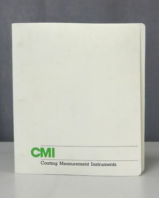 CMI Coating Measurement Instruments CGX Guage Series Operating Inst 0623