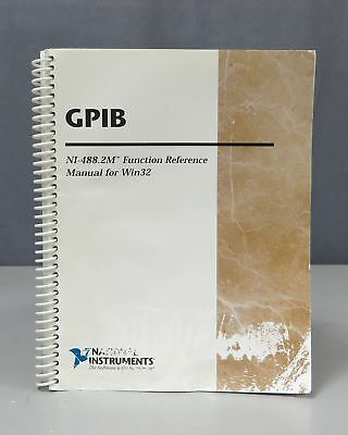 National Instruments GPIB NI-488.2M Function Reference Manual for Win32 1207