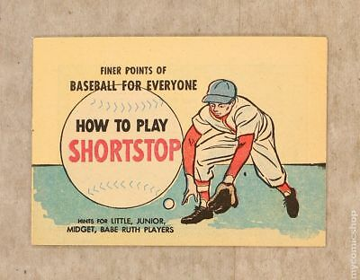 Finer Points of Baseball For Everyone: How to Play Shortstop 1964 VF/NM 9.0