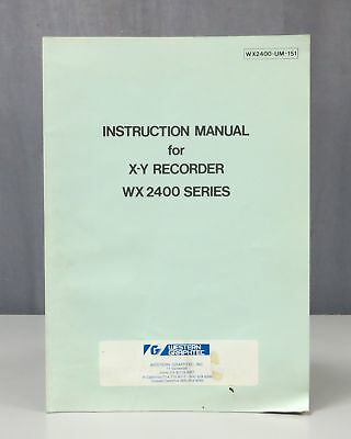 Western Graphtec X-Y Recorder WX2400 Series Instruction Manual 1540