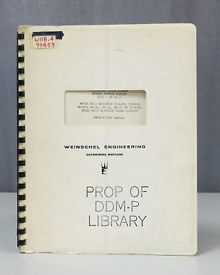 Weinschel Engineering Models KC-1/MS-30/MS-31/MS-32 System Instruction Manual