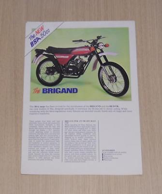 BSA BRIGAND & BEAVER 50cc Motorcycle Sales Specification Sheet c1979