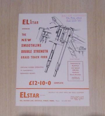ELSTAR GRASS TRACK FORK Motorcycle Sales Sheet