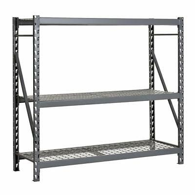 Edsal 12M977 72 X 24 X 72 14 Ga. Steel Bulk Storage Rack 3 Shelf 186929