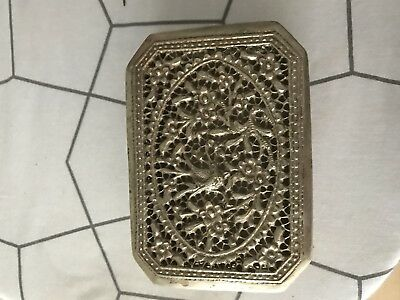 Chinese antique solid silver box