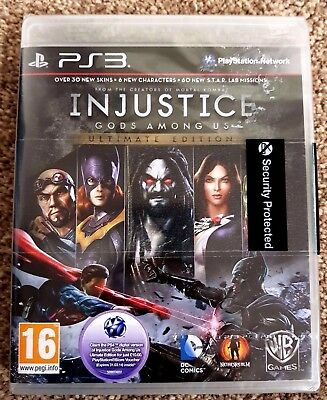 Injustice: Gods Among Us - Ultimate Edition PS3 Game, New & Sealed