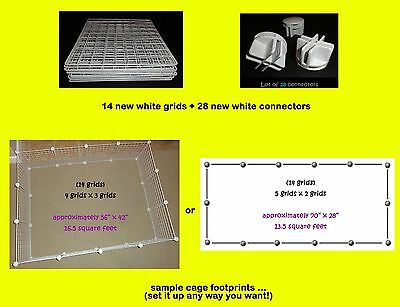 14 grids + 28 connectors for guinea pig C&C (cube & coroplast) cage + care info!