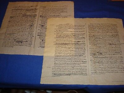 Declaration of Independence,Jefferson's 1st Draft Repro,Parchament  Rolled 2pgs