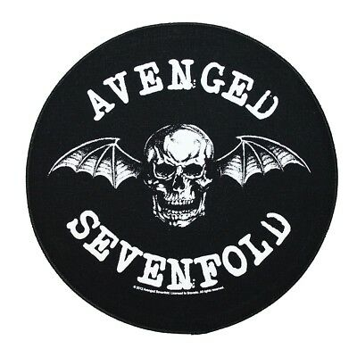XLG Avenged Sevenfold Deathbat Back Patch Heavy Metal Music Logo Sew On Applique