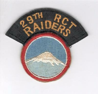 R281 29th Regimental Combat Team Patch Win 10 Get Free US Shipping