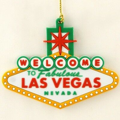 Welcome To Las Vegas Sign Christmas Holiday Tree Hanging Ornament