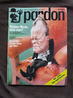 pardon 2 1974 Willy Brandt Guillermo Mordillo Kirche Gilbert Shelton Lyrik SPD
