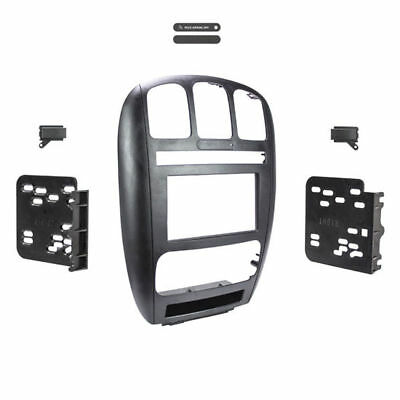 Metra 95-6539 Double DIN Installation Dash Kit 2001-2007 Chrysler Town Country