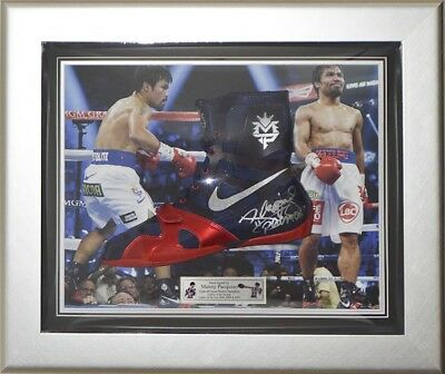 signiert Manny Pacquiao Nike hyperko MP eingerahmt Box Stiefel - Pacman