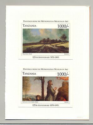 Tanzania #1434-35 Art 2v S/S  Imperf Chromalin Proofs Mounted in Folder