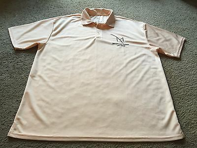 Nice men's size XL M Resort Spa Casino peach polo style shirt Las Vegas