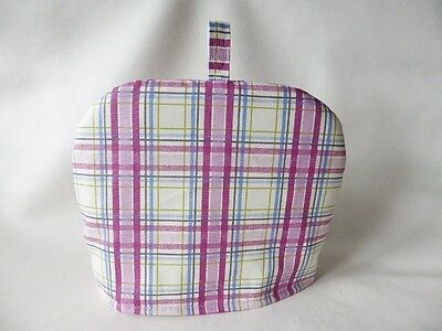 """Hand Made Padded Tea Cosy - 22"""" around base x 9"""" high - MULBERRY CHECK"""