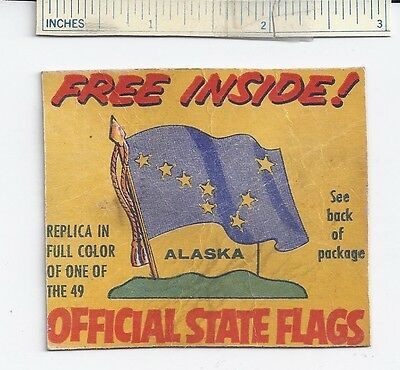 1959 Cereal Box Cut-Out NABISCO STATE Flags Tab Pin Shredded Wheat Advertising