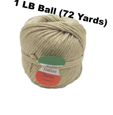 1 LB Ball (72 Yards) Ruby Italian Spring Twine 4-ply hemp-wax finish Upholstery