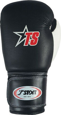 T-Sport Leather Boxing Glove Mesh Finger Boxers Punch Practice & Training Mitts