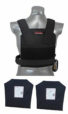 Tactical Scorpion Level IIIA 3A Soft Body Armor Plates + Bobcat Concealed Vest